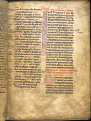 Decorated Initial, In St. Gregory The Great's 'Forty Sermons On The Gospels' f.5r